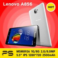 "5.5"" Original 4G FDD LTE Lenovo S856 IPS 1280*720 1G RAM 8G ROM 2500mAh Andorid KitKat 4.4  Qualcomm Quad Core 3G WCDMA Phone"