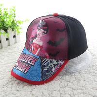 Monster High 2014 New arrival Free shipping Brand Kids Cap, Monster High Caps 4-16T,girls Hat Top Quality Free Shipping DA462
