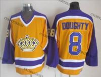 cheap stitched ice hockey jersey Los Angeles Kings #8 Drew Doughty  men's ice hockey jersey/ shirt