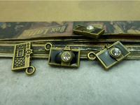 20Pcs Antique Bronze Tone Camera Charms DIY Jewelry Making