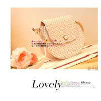 New arrival!!! summer ladies' polka dot bag, fashion women handbag, lady shoulder bag with round dots,small clutch purse, wallet