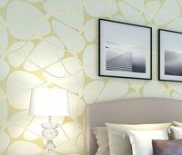 56 Square Feet / 10M Roll Modern Simple Style Cobble Stones Textured Cream Nonwoven TV/Sofa Background Wallpaper