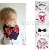 Seven new bow tie modelling triangle bib) cotton waterproof fair maiden gentleman modelling bib saliva towel