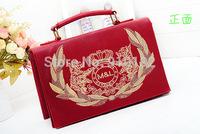 2014 new emblem embroidered handbags suitcases child boutique commuter diagonal satchel