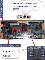 "37T04-C0G T370HW02 VC ( with IC U302 )  T-con for 40"" inchs auo LCD SCREEN PANEL"