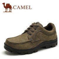 New Brand Name CAMEL Genuine Leather Men's Shoes . Outdoor Hiking Shoes Zapatos Hombre # 225600 Casual Flats