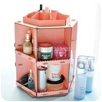 He for ar ts . paper turning large capacity diy cosmetics desktop storage box
