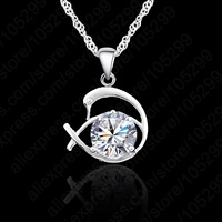 10PCS Lovely Swan With Swiss Crystal Elegant 925 Sterling Silver Woman Girl Pendant Neclace Jewelry +Singapore Chain Set