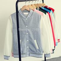2014 New Sweatshirt Sport Suit For Women Fashion Hoody Baseball Jersey Jackets Autumn Hoodies Casual Cardigans S/M/L/XL