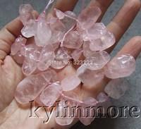 8SE10108 Rose Quartz 11x16mm Top-Drilled Rough Beads