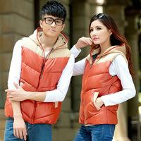 2014 new fashion leisure even cotton splicing cotton vest couples dress Cotton Vest Jacket