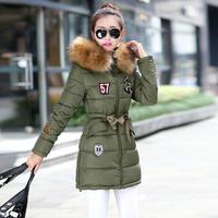 2014 new fashion Popular raccoon fur collar women's down jacket lady slim down coat Cotton-padded jacket Snow Wear