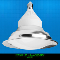 2014 New arrival diameter 24cm E27 20W LED bulb energy saving lamps warm white,  replace 150-200W halogen, AC110-240V