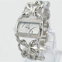 New Cool Lady Wristwatch Full Steel Bracelet Watch Fashion Women Dress Watch With Shiny Crystal jewelry Watch free box