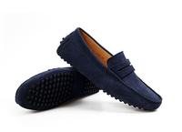 2014 Men's Luxury Brand Designer Soild Casual Genuine Leather Loafers Driving Shoes Flats Velvet Suede Mocasines Slip On