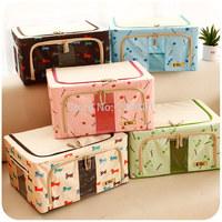 Extra large oxford fabric clothes cotton quilt storage box clothing storage box finishing bag folding storage box