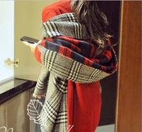 2014 Brand  NEW Scarf for women Classic British Plaid Design Cashmere Pashmina Silk Cotton Scarves & Shawls 180*55  MLY1400