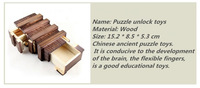 Free shipping Chinese traditional toys Ming lock, children's educational woodiness unlock toys,   kids gifts