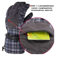 Outdoor ski gloves High-end men and women with high wind waterproof breathable cycling gloves warm warm gloves, 907