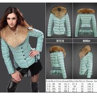 Women's padded jacket 2014 winter  down cotton plus size jacket female slim ladies jackets and coats