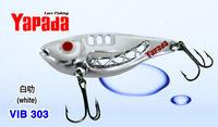 Free Shipping! 2014 New Top Quality YAPADA VIB 303  Space 15g White Metal VIB Fishing Lures New