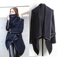 2014 women's Winter casacos femininos overcoat trend New Fashion Women's Slim long Woolen blended Coat