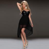 New arrival, High quality! Fashion spaghetti strap swallow asymmetrical Dress, Clubbing Dresses, Size M/L, DL6542