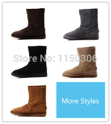 Cheap brand 5116 boots women Mid Calf Australia sheepskin boots fashion winter warm boots for Ladies with original logo Sz 36-41(China (Mainland))