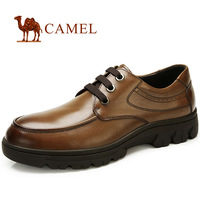 New Brand Name CAMEL Genuine Leather Men's Shoes . Color Black & Brown Casual Flats Zapatos Hombre # 562800