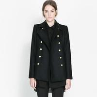 2014 Women's Brand winter long slim Woolen overcoat female cotton overcoat thick warm coats outerwear Fashion plus size