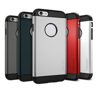 Hot! 5 Colors Spigen Slim Armor & Slim Armor Case For iphone 6 4.7 inch Durable Protection Back Cover Drop shipping