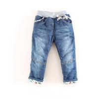 2014  new  arrive  grirl children winter   Plaid  pants