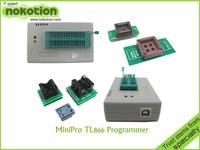 Free shipping 2014 New! Russian & English Software V6.0 MiniPro TL866CS BIOS USB Universal Programmer 5 socket