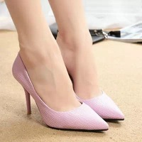 FREESHIPPING 2014 Sexy Pointed Toe Thin Heels High-heeled Women's Fashion Elegant Shoes Shallow Mouth pumps B-P-6811