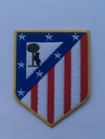 high-end2014UEFA CHAMPIONS LEAGUE logo 28team La Liga Atletico Madrid appliques sons anarchy patche iron on patches for clothing