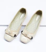 hot sale 2014 new casual flat heel cheap autumn women shoes woman metal bow sweet black beige women flats big size 40 41 42
