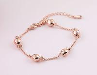 2014 New Wholesale Elegant 18K Rose Gold Plated Metal fish Bracelet Jewelry Free Shipping