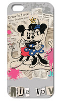 1PC Mickey Mouse True Love style hard cell phone cover case back skin for Iphone  5 5S  free shipping