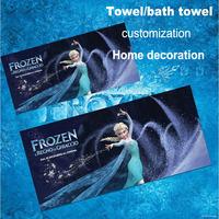 Frozen ELSA custom Bamboo fiber towel bath towel Christmas decorations home