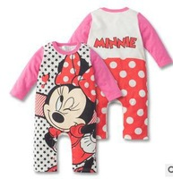 2014 autumn infant new born toddler baby boy rompers baby clothes overall minnie boy clothes thick
