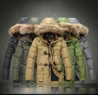 Free shipping 2014 brand fashion men's hooded down jacket winter high quality parkas coat outerwear man plus size S-3XL color 6
