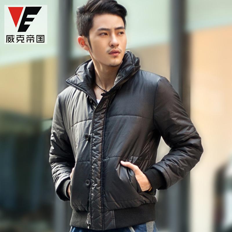 Wake Empire 2014 men's autumn and winter jacket padded jacket male Korean cultivating man(China (Mainland))