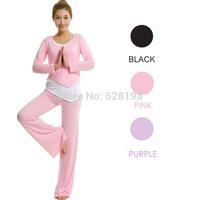 Fashion women sportswear  95% Modal Fitness Charm Breathable sports/dancing clothes loose yoga set clothing Female 3Pcs/Set
