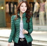 2014 winter Women's wear down jacket Cultivate one's morality show thin short down jacket