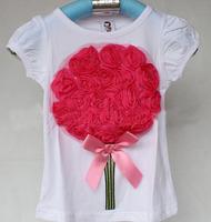 Reital 1 pcs kids brand Flower  baby girls T-shirt For Tutu   girl t shirt New Fashion Free shipping Fashion