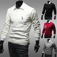 2014 Hitz deer embroidery Men Tee Slim sweater coat sweater hedging 1401Q19 / 35