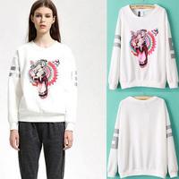 Brand Women Sweater Fashion Winter Pullover Sweater Casual Tops Kintwear Cardigans print animal