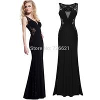 Desigual winter dress new women black lace dress long party sexy vestidos femininos dress maxi bandage evening Party Dresses