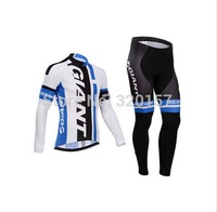 Free Shipping!2014 new bicycle giant cycling jersey bicicleta Ropa ciclismo maillot long cycling clothing bicycle bibs pant sets