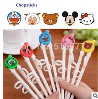 Cartoon children tableware baby infant educational training assisted learning practice chopsticks chopsticks